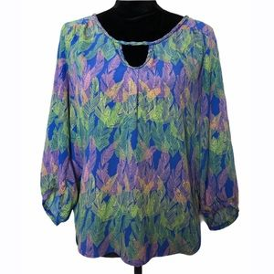 American Eagle Outfitters Multicolor Blouse Size M